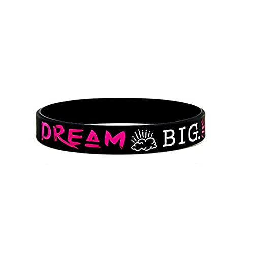CHIY-GBC Dream Inspire Create Believe Pulseras Inspiradoras Mensajes motivacionales Pulseras de Silicona Tamaño de Mujer Joyería de Vacaciones