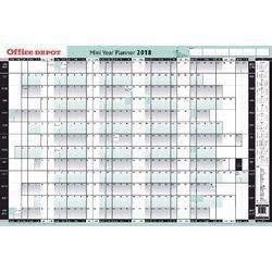 Office Depot &viking Pared Planificadores - Mini Agenda Anual Desmontado Verde