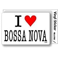 ILBT-132 アイラブステッカー I love BOSSA NOVA (ボサノバ) ステッカー