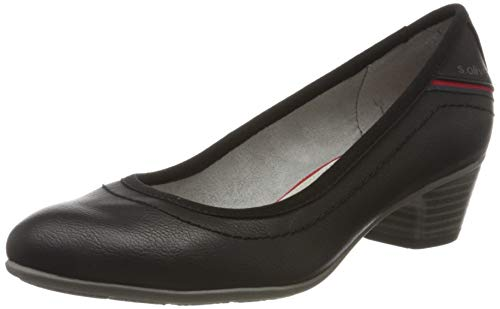 s.Oliver Damen 5-5-22301-34 Pumps, Schwarz (Black 001), 39