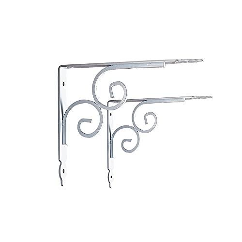 2 soportes decorativos para estantes, perchas de soporte para colgar en la pared en ángulo recto de 90 °, soportes para estantes flotantes de 29 cm para estanterías abiertas de bricolaje,19cm/7.4'