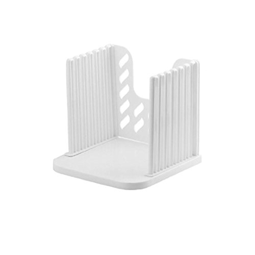 Bread Slicer Toast Slicer Toast Cutting Guide Bread Toast Slicer Bagel Loaf Slicer Sandwich Maker Toast Slicing Machine Folding and Adjustable Thicknesses Bread Cutter(White)
