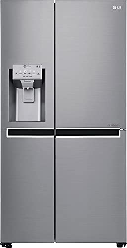 LG 668 L Inverter Linear Frost Free Side-by-Side Refrigerator (GC-L247CLAV, Platinum Silver, With Water & Ice Dispenser, Hygiene Fresh)
