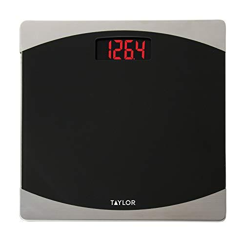 Taylor Precision Products Glass Digital Bath Scale (Black/Silver)