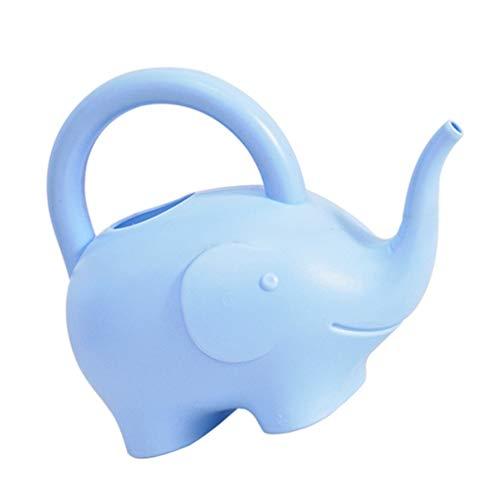 BESTonZON Elefant Gießkanne Kinder Größe Gießkübel 1L Neuheit Indoor Gießkessel Kunststoff Dekorative Gartenarbeit Gießkanne Tisch Herzstück