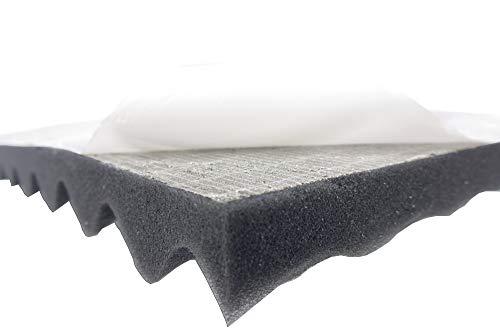 Dibapur Noppenschaumstoff SELBSTKLEBEND AKUSTIKSCHAUMSTOFF (TYP 100x50x5 cm) Schall Dämmung zur effektiven Akustik Dämmung