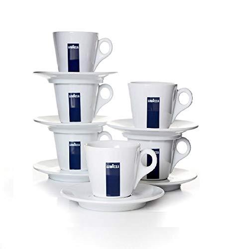 6 X Lavazza Espresso Tassen und Untertassen -Kapazität cc 75, height mm 58