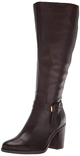 Naturalizer Women's Kamora High Shaft Knee Boot, Chocolate Wide Calf, 10.5