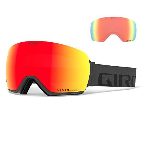 Giro Snow Herren Article Skibrille, Grey Wordmark Vivid Ember/Vivid Infrared, Einheitsgröße