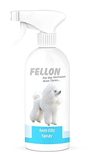 Fellon Anti-Filz für Hunde - Entfilzungsspray, 100 % natürlich & pH-neutral - Fellpflege für Kurzhaar, Langhaar, jede Art von Hund - Erleichtert das Kämmen / Bürsten - Sprühflasche, 500 ml