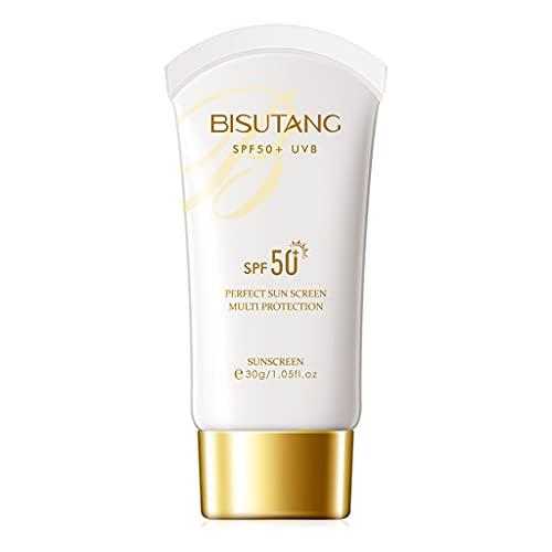 GLASSNOBLE Crema de protección solar, 30 g SPF50+ UVB Facial Body Whitening Crema Crema Refrescante Hidratante 1 Botella
