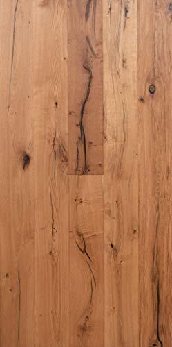 Parkett Eiche Rustikal Gebürstet- Landhausdiele 1-Stab natur-geölt mit Fase - 190 Elephant Skin Oak - Handmuster