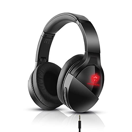 【Bluetooth5.0搭載】ゲーミングヘッドセット ps4 ヘッドホン bluetooth ヘッドセット ボイスチャット マイク内蔵 Switch 高音質 ヘッドフォン 有線/無線 両用 LED フォートナイト スイッチ ノイズキャンセリング 軽量 スカイプ ゲーム用 PS5 /PC/FPS/パソコン 対応 男女兼用 プレゼント 赤