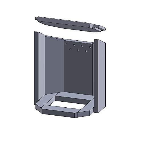 Kaminofen Vermiculiteplatten passend für Justus Usedom 7 - Set 10-teilig Feuerraumauskleidung