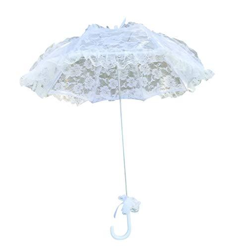 caralin Simple Wedding Supplies Lace Hollow Bride Wedding Umbrella Photo Decor Absorber sombra de renda branca