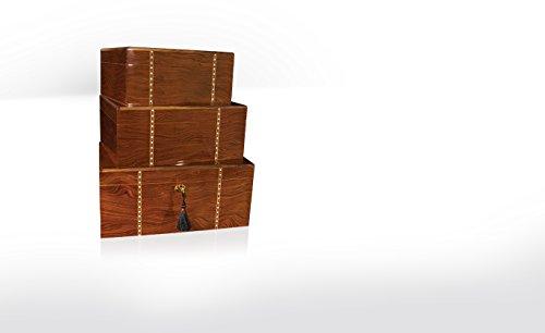 Savoy Small Ironwood Marquetry Humidor - (25 Cigars)