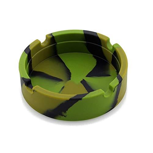 WGG Cenicero de Silicona Redondo Resistente a la Rotura Alta Temperatura Resistente al hogar Ambientalmente Respetuoso con el Medio Ambiente, cenicero Engrosado, Adecuado para hoteles Familiares