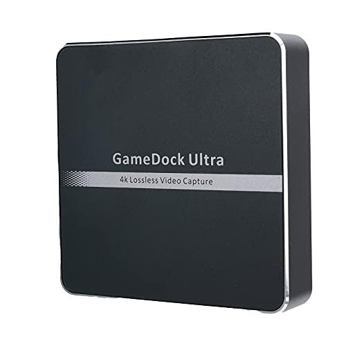 Tarjeta de captura de video, tarjeta de captura, interfaz multimedia HD 2.0, tarjeta de captura con cable de datos tipo C y cable tipo C a USB, aleación de aluminio, entrada de línea TRS de 3,5 mm
