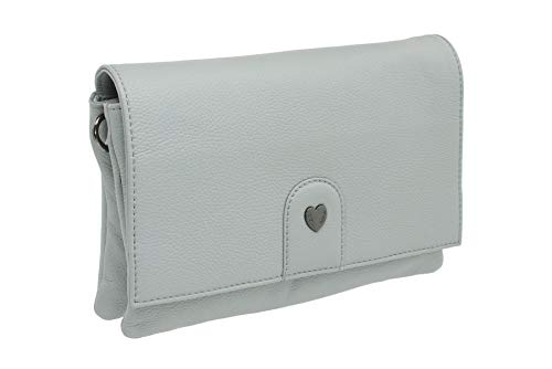 Mala Cooper Collection Leather Shoulder/Cross Body/Clutch Bag 7150_24 Grey