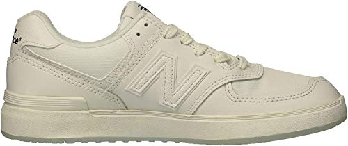New Balance Men's 574v1 All Coast Skate Shoe, White, 13 2E US