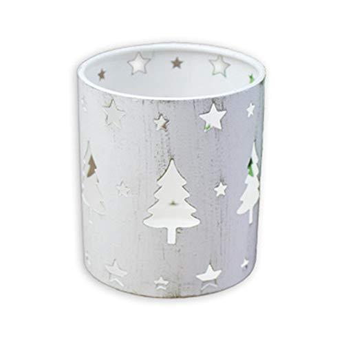 LLZIYAN Weinlese-Kandelaber für Weihnachtshochzeitsessen-Weihnachtsbaumhirsch-Hauptparty-Dekor,Weißer Weihnachtsbaum