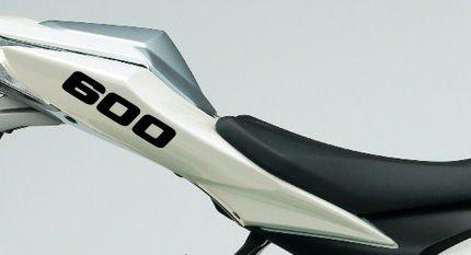 """Verkleidungsaufkleber """"600"""" in Motor-Größe für Motorrad, 1 Paar, schwarz"""