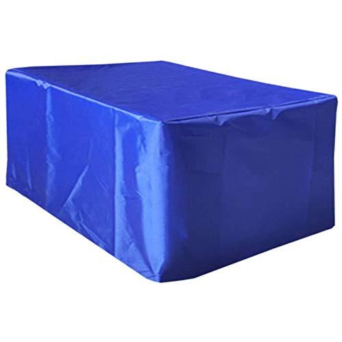 STZYY Fundas Impermeables para Muebles de jardín 420D a Prueba de Humedad para Exteriores Anti-UV para terraza, Mesa de Comedor, sofá, Juegos de combinación de sillas, rectángulo, Azul, 315x270x10
