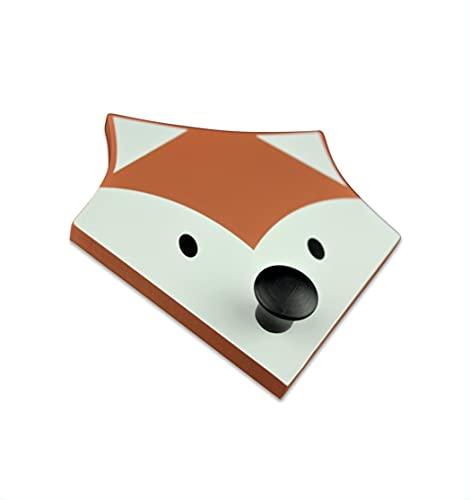 mokinu Garderobenhaken für Kinder– Fuchs Tierkopf Kleiderhaken aus Holz – Waldtiere & Dschungel Tierköpfe