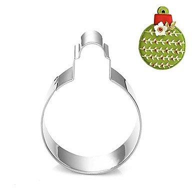 WYFC Décoration de Noël bulle forme de boule emporte-pièce. l 7.6 cm xl 6.6cm xh 2 cm. en acier inoxydable