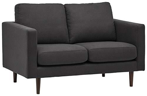 "Amazon Brand – Rivet Revolve Modern Upholstered Loveseat Sofa, 56""W, Storm Grey"