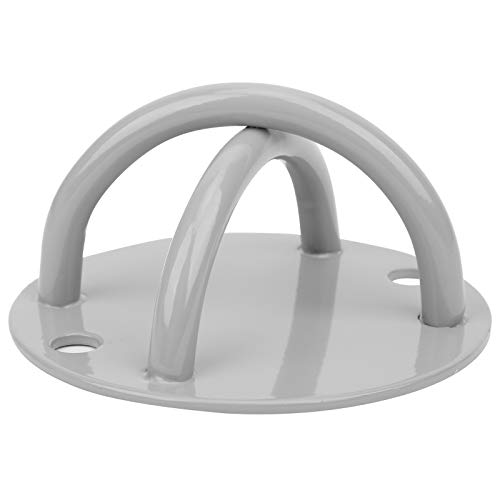 DAUERHAFT Columpio Blanco Plateado Placa Fija Colgador de Hamaca Yoga aéreo Placa Fija Columpio Bolsa de Arena Colgante Placa de Gancho