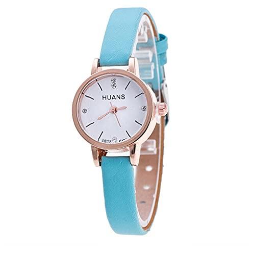 Women Watches Analog Quartz Round Dial Leather Strap Watch Girl Wristwatch Teen Girls Watches Simple Watch Fashion Watches