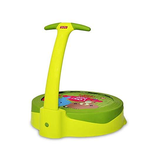 YLJYJ Kindertrampolin (grün) Heimfitnessspielzeug Indoor 1-3 Jahre altes Babytrampolin Trampolin (Sport)