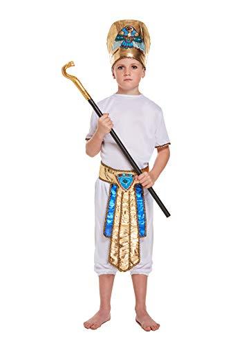 Leg Galore - Disfraz de niño Egipcio para niños de 4 a 6 años con bastón de Serpiente