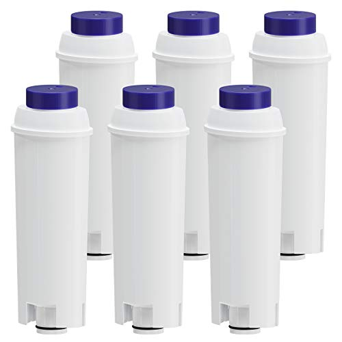 Fil-Fresh Filtro de agua para cafeteras automáticas DeLonghi, compatible con DeLonghi ECAM, ESAM, BCO y ETAM, 6 unidades