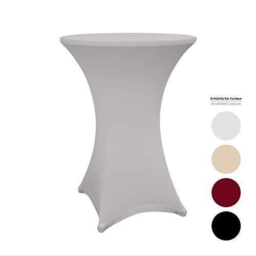 Lumaland Rok voor statafel - hoes voor statafel - Tafelrok - stretch - sneldrogend - in verschillende maten en kleuren - Ø 70cm - Zilvergrijs