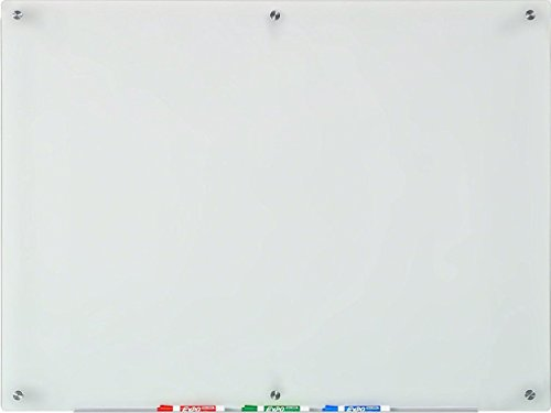 Audio-Visual Direct Frosted Glass Dry-Erase Board Set - 35 1/2 x 47 1/4 Inches - (Non-Magnetic)