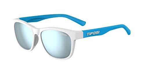 Tifosi Optics Swank Sunglasses (Frost Powder Blue/Smoke Bright Blue lenses)