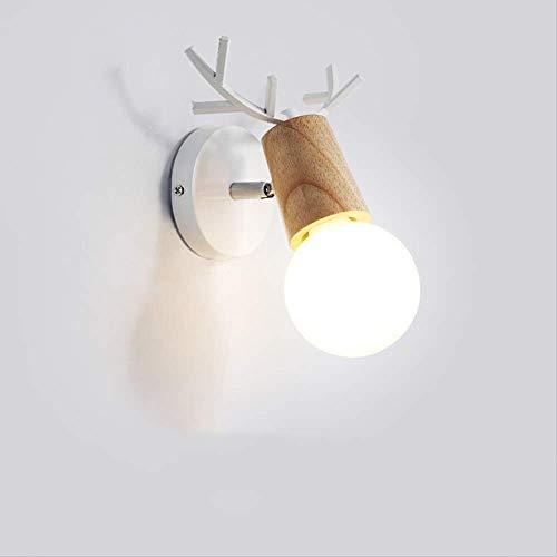 BXU-BG Nórdico moderno minimalista personalidad creativa croissant lámpara de pared de madera 5-10 metros cuadrados pasillo pasillo dormitorio restaurante alto sabor brillante lámpara