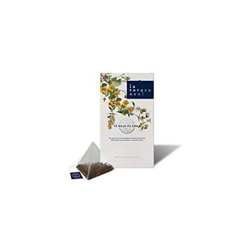 LA TETERA AZUL Bio Pu Erh Roter Tee. Organische Infusion in Pyramiden. 20 Pyramiden.