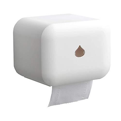 Yzbtj Soporte para Papel Higiénico Montado En La Pared, Soporte Autoadhesivo Impermeable para Papel Higiénico para Baño, Cocina, Soporte para Papel Higiénico para Teléfono Celular (Blanco)