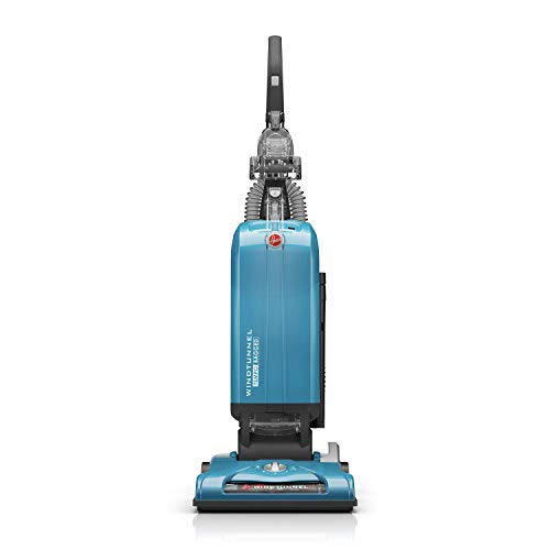 Hoover WindTunnel T-Series Tempo Bagged Upright Vacuum Cleaner with HEPA Media Filter, For Carpet and Hard Floor, UH30301, Blue