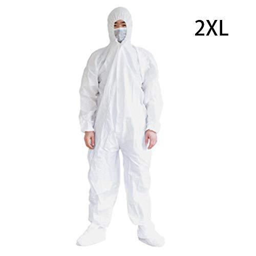 franktea Schutzkleidung, Einweg-Arbeitskleidung Schutzkleidung Malerei Polnische Epidemie Fortpflanzungsenzym Badoverall Kapuze L-3XL