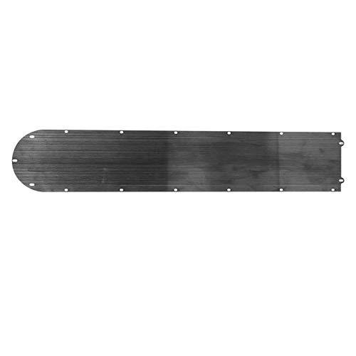Cubierta Inferior de batería, Compartimento de batería de Acero Inoxidable Negro para Scooter eléctrico Xiao m i Mijia M365 50x10cm