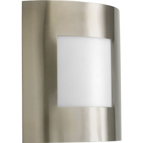 Progress Lighting P5736-09 1-Light ADA Wall Lantern That Can Be Used Indoors Or Outdoors, Brushed Nickel