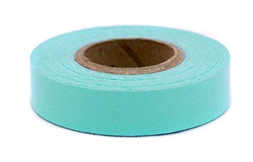 ChromaLabel 1/2 Inch Clean Remove Color-Code Tape, 500 Inch Roll, Aqua