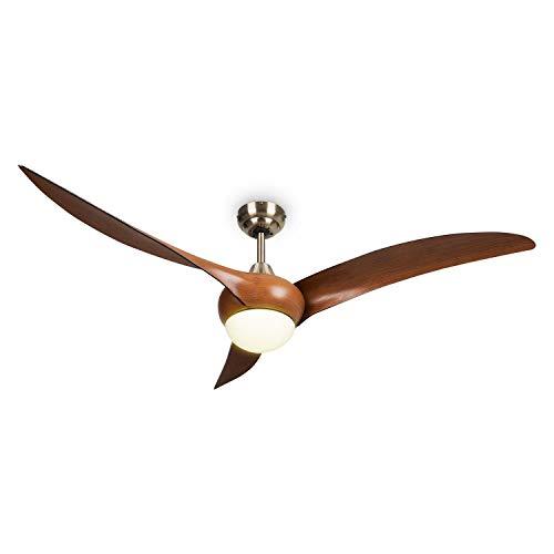 Klarstein Monteverde ventilador de techo, 2 en 1: Ventilador y lámpara de techo, 52