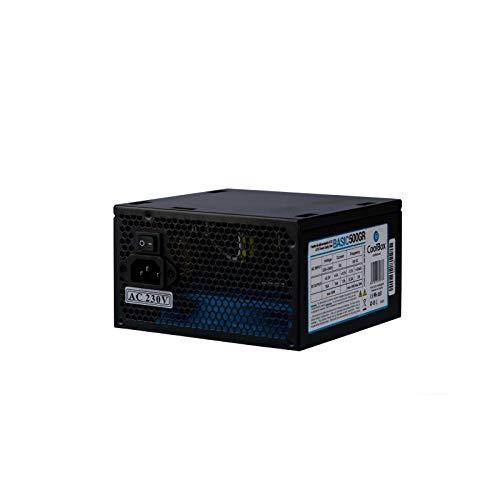 CoolBox Basic 500GR ATX Netzteil 500 W Schwarz - Netzteile (500 W, 220-240 V, 50 Hz, 5 A, 80 W, 80 W)