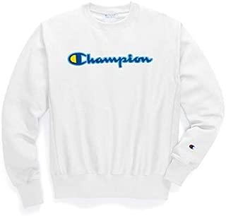 Champion LIFE Mens GF70 Reverse Weave Sweatshirt Long Sleeve Sweatshirt - White - Small