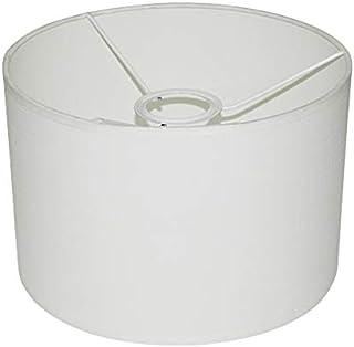 Abażur 230x150 mm średnica x wysokość   Walec   Imitacja bawełny biała   Pod oprawkę E27 (dużą)   Do kinkietów, żyrandoli,...